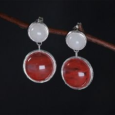 Material - high quality of sterling silver 925 with stamp. Hypoallergic, lead and nickel free. Color - sterling silver, red and white. Inspired by nature and life. Fine Jewelry, Women Jewelry, Jewellery, Candy House, Crystals And Gemstones, Sterling Silver Earrings, Women's Earrings, Dangles, Jewelry Accessories