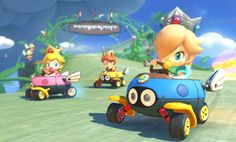 The eighth in the epic Mario Kart series hits the Wii U in high definition with never seen before gravity defying karts. Find out more on our Mario Kart 8 info page Mario Kart 8, Nintendo Mario Kart, Mario And Luigi, Nintendo Switch, The Legend Of Zelda, Super Smash Bros, Super Mario Bros, Wii U, Nintendo Princess
