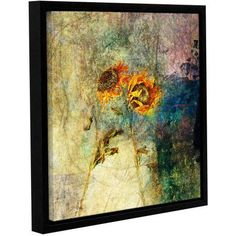 ArtWall Elena Ray Sunflowers Gallery-wrapped Floater-framed Canvas, Size: 24 x 24, Purple