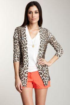 Leopard Boyfriend Cardigan