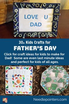 Click for 30+ craft ideas for kids to make for Dad! Some are even last minute ideas and perfect for kids of all ages.
