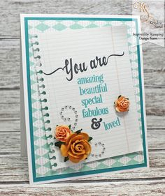 Inspired by Stamping, Kendra Sand, You Are stamp set, encouragement card, thinking of you card