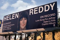 1974 Sunset Boulevard billboard — Helen Reddy