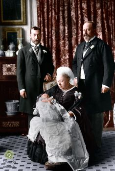 Queen Victoria with George V, Edward VII and future Edward the VIII