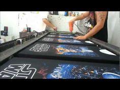 Serigrafia - Simulacion de Color - YouTube Screen Printing Shirts, Printing Press, Shop Storage, Diy And Crafts, Stencils, Mens Winter, Prints, Painting, Colour