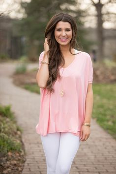 Feel Alive Piko Blouse Rose - The Pink Lily