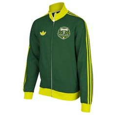 Portland Timbers adidas Fleece Track Jacket - Green - Click to enlarge