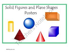 Free Solid Figures and Plane Shapes Posters from Melissa Joe on ...