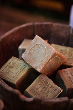 Vintage soap blocks