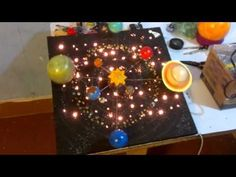 How to make 3D Solar System Project Sistema solar giratorio paso a paso - YouTube