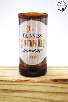 Beer Bottle Tumblers & Drinking Glasses Made From: Guinness Blonde, Left Hand Milk Stout, and Golden Ale Single Chair Beer Bottle Cups, Wine Bottle Vases, Cut Bottles, Bottle Cutting, Preserves, Brewery, Drinking, Glasses