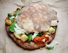 Panino di Pizza With Cauliflower and Romesco #PaninodiPizza #CauliflowerandRomesco