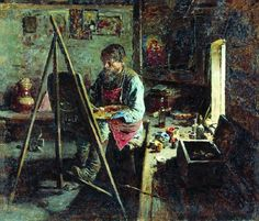 All sizes   Arkhipov, Abram (1862-1930) - 1889 Village Iconographer (Tretyakov Gallery, Moscow, Russia)   Flickr - Photo Sharing!