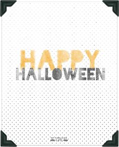 Happy Halloween free printable from WhipperBerry
