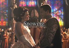 Snowing. - Just OUAT things