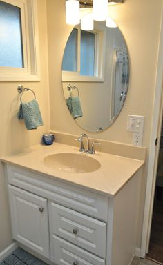 Here are a few before and after pictures of a bathroom we just completed in Springfield. What a difference the light colors in this room made. Not to mention how much space was created around the vanity by moving the toilet. For more picture of our work visit our website at http://castileconstructioninc.com/