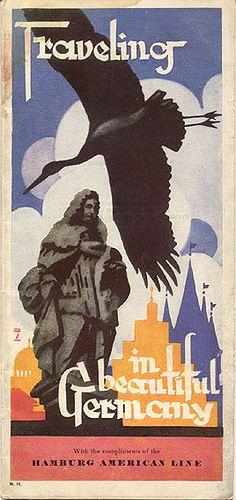 Traveling in Beautiful Germany, 1929. Artist: Ludwig Hohlwein (German, 1874–1949)