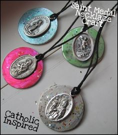 Saint Medal Necklace Craft {Catholic Teen Girl Fun!!!} - Catholic Inspired