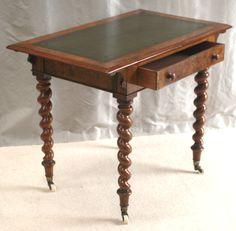 Wonderful Beautiful Small Antique Walnut Writing Table By The Well Known London Firm  Of Edwards U0026 Roberts