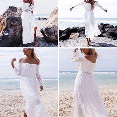 Fashion Womens Summer Boho Long Maxi Dress Evening Cocktail Party Beach Dress Sundress Bikini Coverup -- BuyinCoins.com