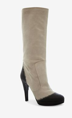 Chanel Grey Boot