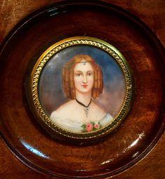 Antique Portrait Miniature Of Comtesse Potocka