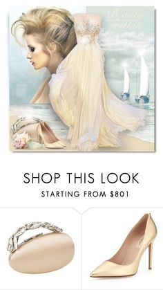 """Summer Gown"" by debraelizabeth ❤ liked on Polyvore featuring Manolo Blahnik and Valentino"