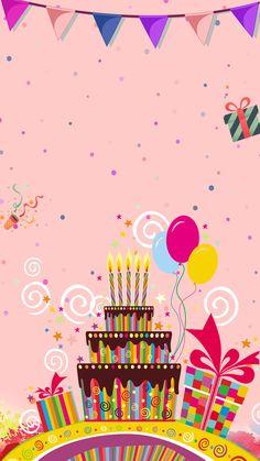 Happy Birthday Invitation Card, Happy Birthday Frame, Happy Birthday Wallpaper, Happy Birthday Flower, Birthday Frames, Happy Birthday Greetings, Diy Birthday, Birthday Greeting Cards, Image Birthday Cake