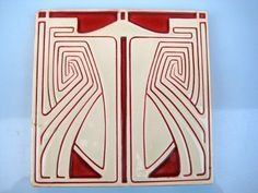 Jugendstil Fliese V&B Mettlach P. Behrens ART NOUVEAU TILE TEGEL CARREAU KACHEL