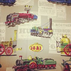 Train fabric craft ideas pinterest fabrics trains for Fabric with trains pattern