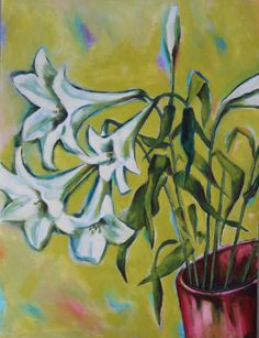 St. Josephine's Lily, oil on canvas paper. Mid 1990s.