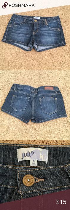 Selling this Blue Jolt Jean Shorts in my Poshmark closet! My username is: taylorbernier07. #shopmycloset #poshmark #fashion #shopping #style #forsale #Jolt #Pants