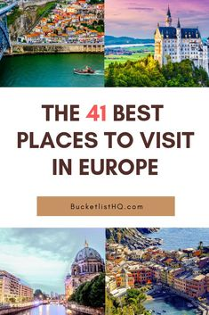 41 Best Places to Visit in Europe. Bucket List Destinations (with photos) – Best Europe Destinations Travel Destinations Bucket Lists, Europe Bucket List, Places To Travel, Vacation Destinations, Vacation Spots, Instagram Inspiration, Travel Inspiration, European Destination, European Travel