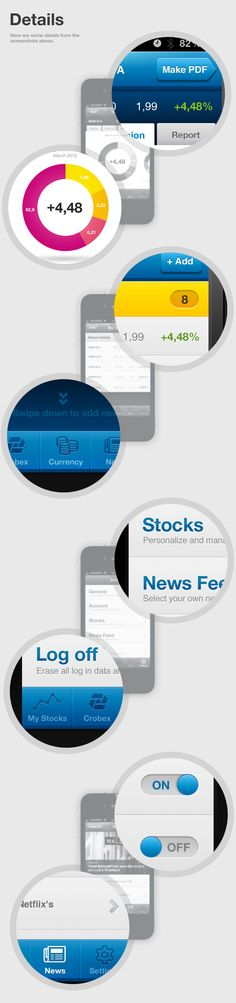 Croatian Market Portfolio iPhone App by Krešimir Kraljević, via #Behance #mobile