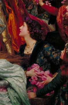 Details of The Two Crowns, 1900, by Frank Dicksee (1853-1928)