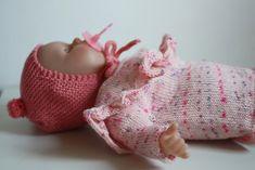 Hupsistarallaa: Neuleita (Baby Born) nukelle, ohje villapaitaan ja myssyyn