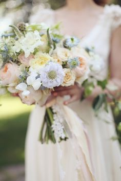 Gorgeous Pastel Bridal Bouquet - Spring Wedding Inspiration