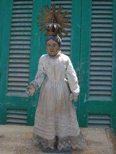 #15/ 202 Wooden Saint 18th Century