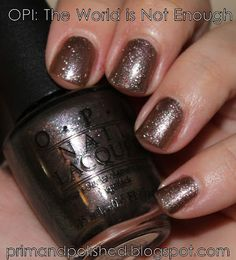 OPI: The World is Not Enough (Prim and Polished: A Nail Polish Blog)