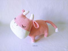 Image of Muñeco Amigurumi Buey / Vaca *Amigurumi Doll Ox / Cow