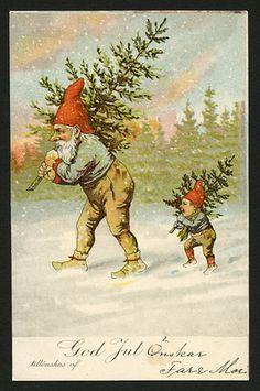 Julkort av Thorvald Rasmussen. Från ca år 1900.
