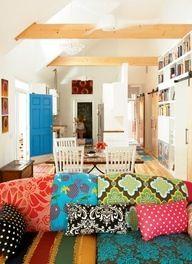 love these pillow colors- Bohemian decor