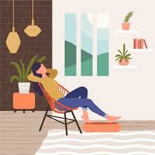 A person relaxing at home illustration Brain Illustration, People Illustration, Cute Illustration, Character Illustration, Illustrations, Digital Illustration, Sitting Poses, Cute Art, Les Oeuvres