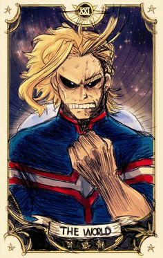 The World, text, All Might; My Hero Academia