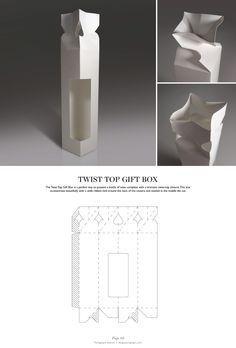 Twist Top Gift Box - Packaging & Dielines: The Designer's Book of Packaging Dielines