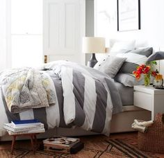 Look at all that squishiness!  #lazyday #bedding #stripes (scheduled via http://www.tailwindapp.com?utm_source=pinterest&utm_medium=twpin&utm_content=post553165&utm_campaign=scheduler_attribution)