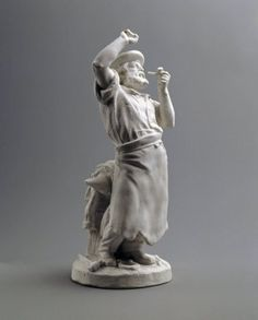Statuette of Blacksmith  Manufacturer: Union Porcelain Works, 1863-ca.1922  Artist: Karl L. H. Mueller, American, born Germany, 1820-1887  Medium: Unglazed porcelain  Place Manufactured: New York City, New York, USA  Dates: ca. 1876