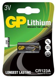 "Батарейка литиевая ""GP Batteries"", тип CR123 (CR17345), 3В"