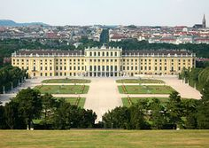 Schönbrunn Palace,   the palace was one of the residences of the Habsburg empire in Vienna (Wien),  Austria