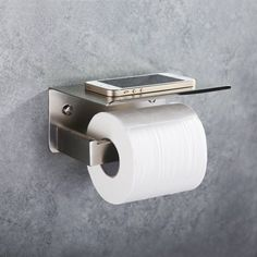 Amazon.com: Toilet Paper Holder, Angle Simple SUS304 Stainless Steel Bathroom Tissue Holder with Mobile Phone Storage Shelf, Brushed Nickel: Home & Kitchen